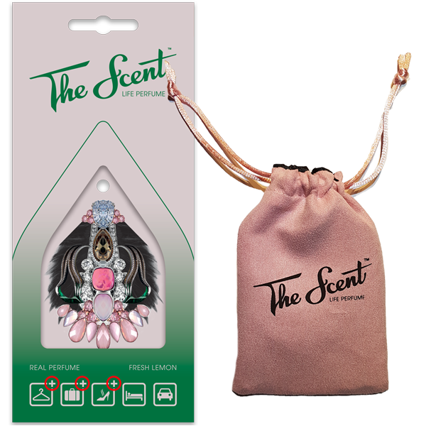 The Scent™ – Life Perfume | Fresh Lemon card and ribbon