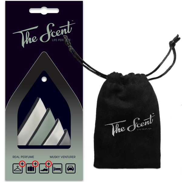 The Scent™ – Life Perfume   Musky Venturer package and bag